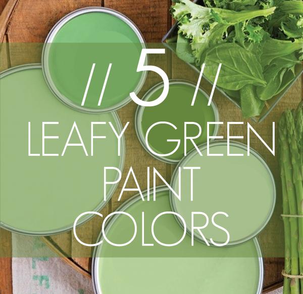 Imagine Design » 5 Leafy Green Paint Colors