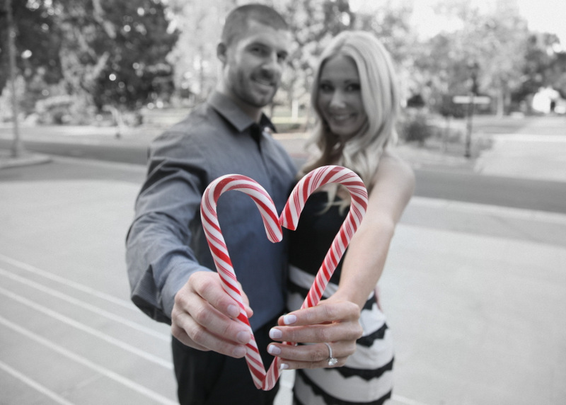 14  Engagement Pictures Candy Cane Heart
