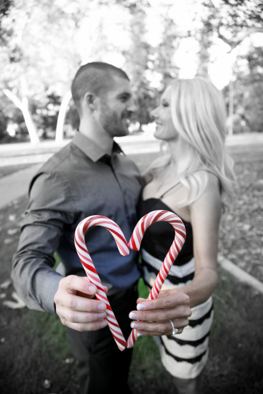 18 Engagement Pictures Candy Cane Heart
