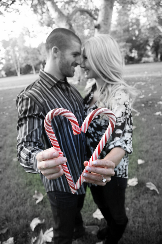 53 Happy Couple Candy Cane Heart